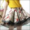 2012 original lady's flower printed skirt