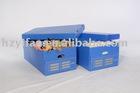 2012 new style foldable transport storage corrugated Plastic box with lid(YF7030)