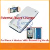 New Wireless TV OUT Case Built in 2000mAH Battery Wireless TV Output Transmitter with Receiver for iphone4S 4