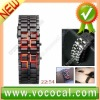 Lava Style Iron Samurai Metal Red LED Faceless Watch