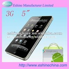 "New 5"" smartphone 3G Android phone Dual SIM PAD capacitive touchscreen cell phone mobile android smart phone"