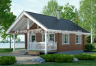 Beautiful living wooden house JS-C-257