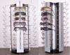 Rotating Metal and Acrylic Glasses Display
