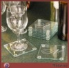 Promotion decent square perspex cup coaster