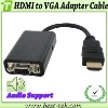 Hot Seller Black HDMI to VGA Audio Converter Cable