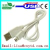 Nickel-plated USB male to mini5p cable