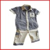 Chidren grid summer suits