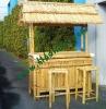 Natural bamboo tiki bar