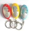 Electronic LED keychain with vioce recorder