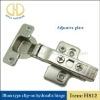 Clip-on hydraulic cabinet hinge