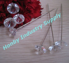 Clear White Diamond Head Florist Pin for Wedding Bouquets