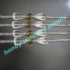 100% distribution clear and yellow colors crystal chain curtain