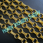 adjustable 12mm bright gold anoized aluminum chain link curtain wall