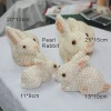 cute rabbit shape animal freshwater pearl crafts