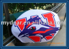 white Side Car mirror wing cover