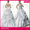 AZ0661 Handmade Bow Cathedral/ royal Train White Real Wedding Dress