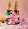 Wedding Decoration-Wedding Accessories-pink flower decoration Champagne Glass wear