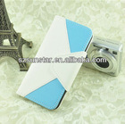 Colorful leather skin case for iphone5