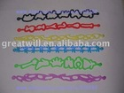 2011 newest hollow silicone bracelet