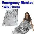 1.4M x 2.1M Silver Camping Emergency Thermal Blanket / Emergency Sleeping Bag