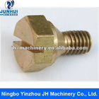Yellow zinc plating thumb screw