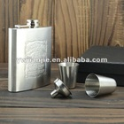 6oz Portable mini stainless steel hip flask for whisky