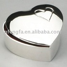 Heart-shape Metal Jewelry Box