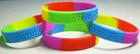 Debossed Silicone Wristband for promotional gifts