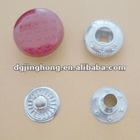 metal red drip gum garment snap(15mm)