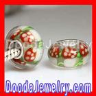 Christmas Glass Beads Lampwork Rose Glass Beads Wholesale