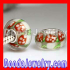Christmas Glass Beads Lampwork Rose Glass Beads Wholesale