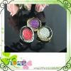 fashion and unique alloy enamel button with rhinestone and all-star Resin Rhinestone