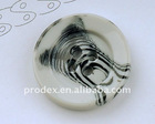 classic white polyester resin buttons with thick rim
