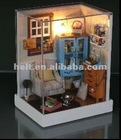 best selling toy diy wooden doll house miniature,dollhouse wooden miniature,wooden model building