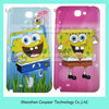 back cover for samsung note 2 with Spongebob N7100 paypal is accepted