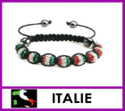 2012 Olympic supporting Shamballa bracelet! Italy Flag Colors Meaning shamballa bracelets, charm jewleries