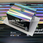 UV holographic paperboard printing box packing