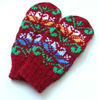 women's girl's hand-knit hand-knitted Hand-Made MITTENS gloves