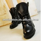 ladies winter fashion leisure boots with pu