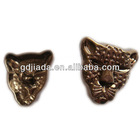 animal pattern metal button