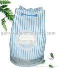 Fashion 300D stripe lady drawstring bag GE-5008