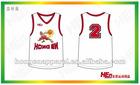 2012 Latest Sublimated Printing Basketball T-Shirt