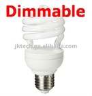 CE ROHS Standard Half Spiral 230V 15W 4000K E27/B22 Dimmable CFL With Ordinary TRIAC dimmer switch