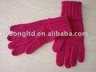 Men's plain 100% cashmere knitting gloves