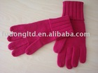 Men's plain 100% cashmere knitting gloves
