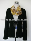 100% cashmere ladies V neck cardigan with ribbon