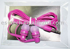 Promotion Items for Girls Product: Hot Pink In-ear Earphone