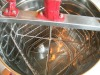 NEW ONCE FORMING 4 FRAME MANUAL STAINLESS STEEL HONEY EXTRACTOR