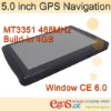 5.0 inch GPS Navigation with FM/Bluetooth/AV-in Build/in 4G