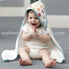 organic cotton/bamboo& cotton hooded baby towel BC-BR1179